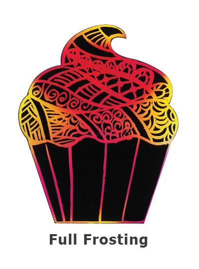 Scratch Art Cupcake - Full Frosting