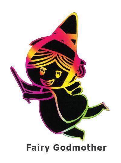 Scratch Art Fairytale - Fairy Godmother