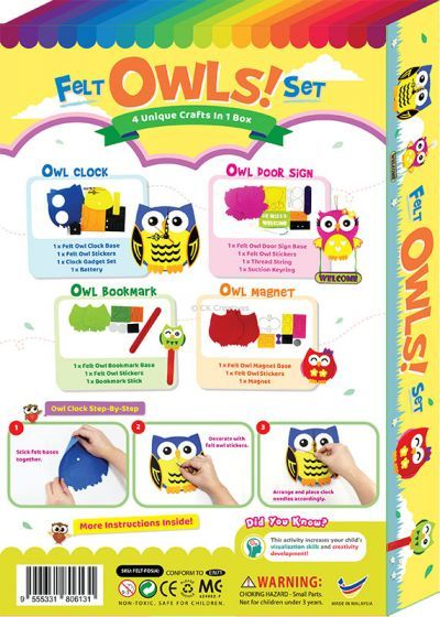 Felt 4-in-1 Owls Box Set - Packaging Back