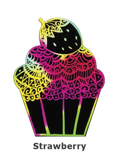 Scratch Art Cupcake - Strawberry