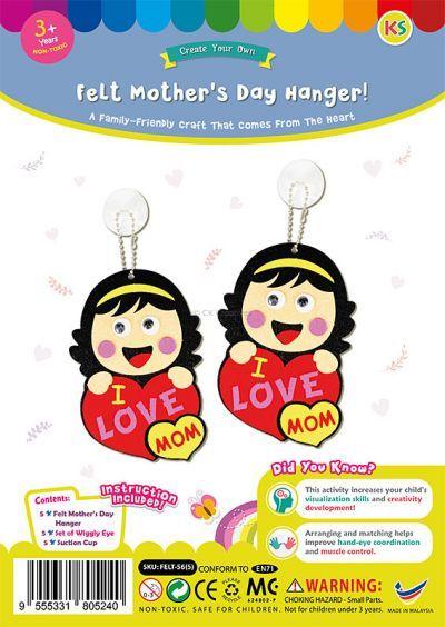 Felt Mother's Day Hanger Pack of 5 - Packaging Front