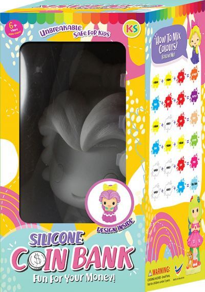 Silicone Coin Bank Painting Series F - Kit
