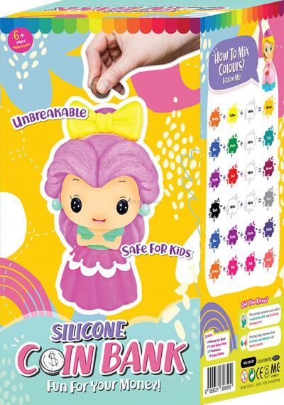 Silicone Coin Bank Painting Series F - Kit - Packaging Back