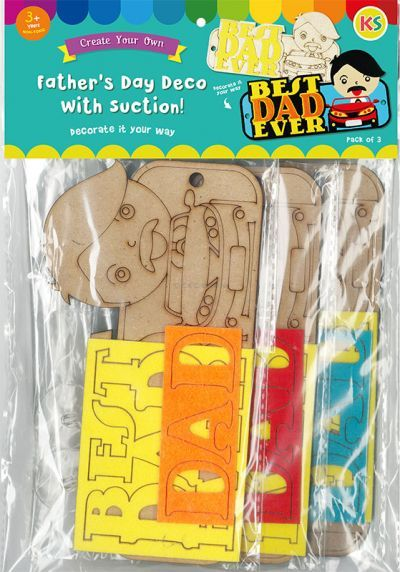 Father's Day Deco Pack of 3 - Packaging Front