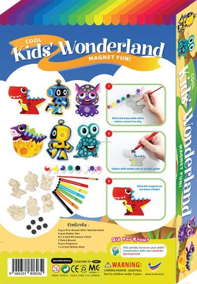 Cool Kids' Wonderland Magnet Fun Box Kit - 6-in-1 - Packaging Back