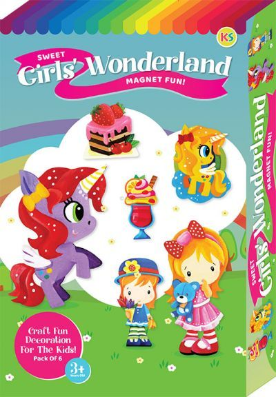 Sweet Girls' Wonderland Magnet Fun Box Kit - 6-in-1