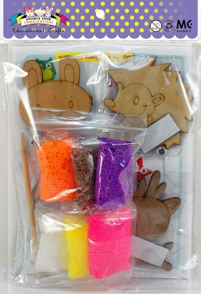 Foam Clay Magnet Kit - Packaging Back