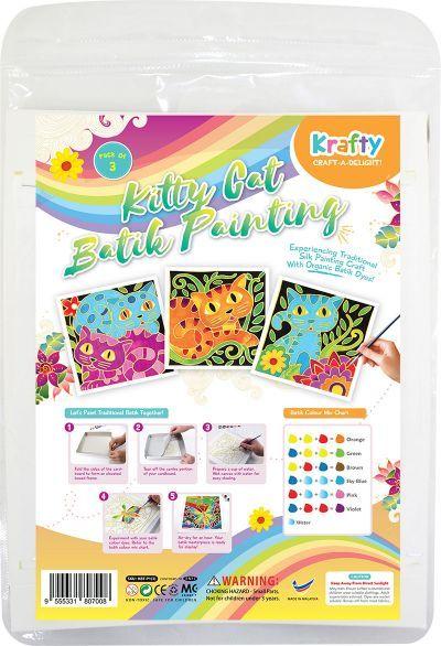 Batik Painting 3-in-1 Kit - Kitty Cat!Batik Painting 3-in-1 Kit - Kitty Cat!