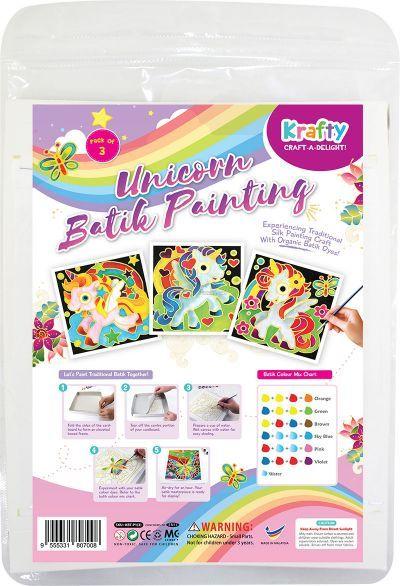 Batik Painting 3-in-1 Kit - Unicorns!Batik Painting 3-in-1 Kit - Unicorns!