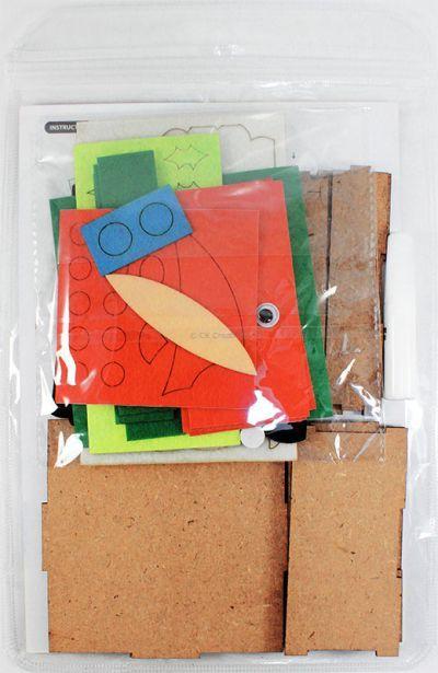 Felt Christmas Gift Box - Packaging Back