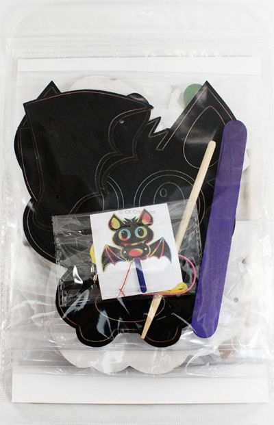 Scratch Art Halloween Puppet - Packaging Back