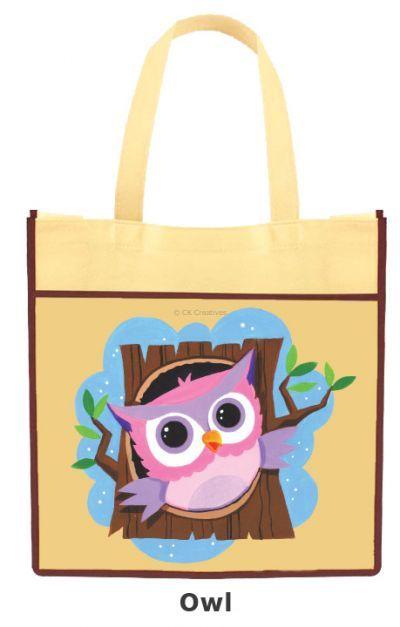 DIY Animal Tote Bag - Owl