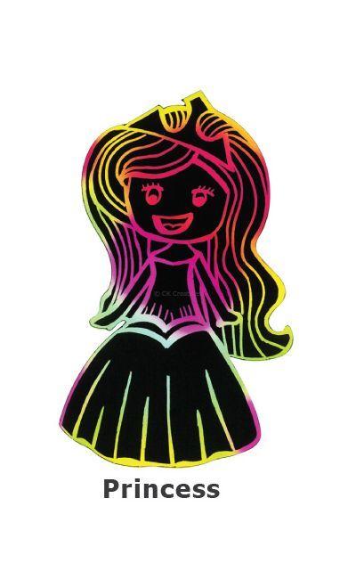 Scratch Art Fairytale - Princess
