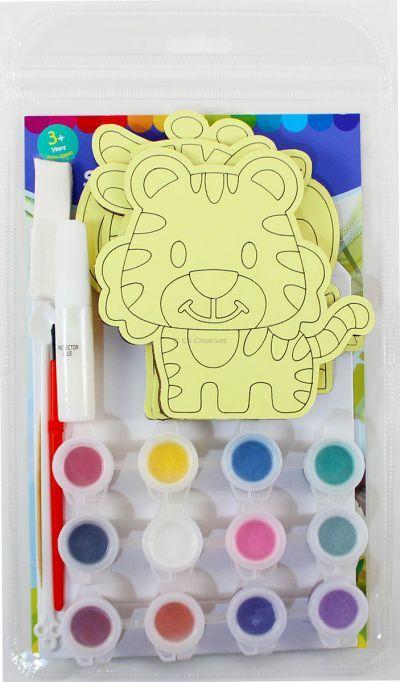 5-in-1 Sand Art Animal Board Kit - Packaging Back