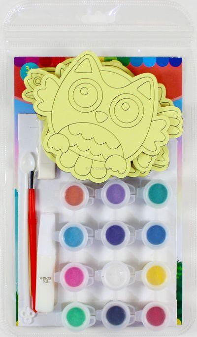 5-in-1 Sand Art Bird Board Kit - Packaging Back
