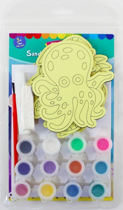 5-in-1 Sand Art Sealife Board  Kit - Packaging Back