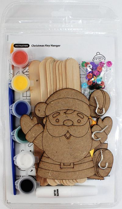 Christmas Key Hanger Kit - Packaging BackChristmas Key Hanger Kit