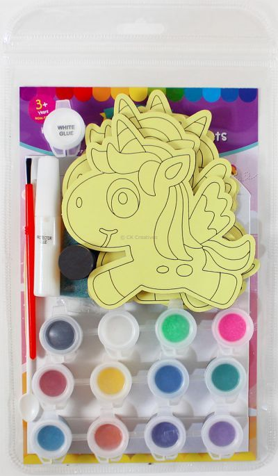 5-in-1 Unicorn Sand Art Magnet Kit - Packaging Back