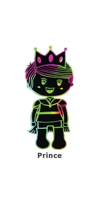 Scratch Art Fairytale - Prince